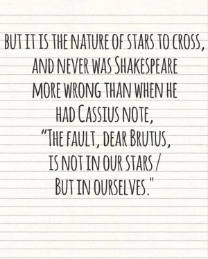 The fault in our stars quote John Green