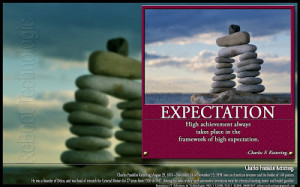 quotes about high expectations ... achievement always takes