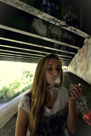 teen girl smoking weed