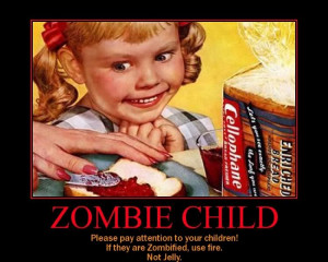 Zombie kids funny image quote