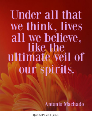 Antonio Machado Inspirational Quote Print On Canvas