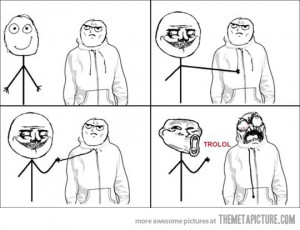 Funny photos funny rage comic troll face