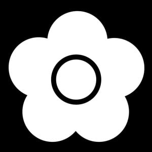 Mary Quant Flower Black Art