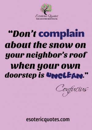 Don't complain about the snow on your neighbor's roof when your ...