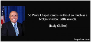 St. Paul's Chapel stands - without so much as a broken window. Little ...