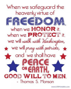 LDS Printables: Freedom - Pres Monson (in 3 different colors)