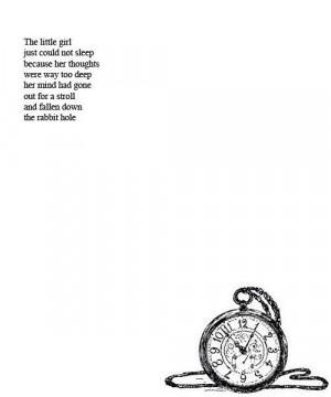 ... deep thoughts depression quotes tick tock rabbit hole sad poem