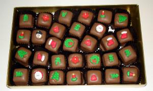 christmas chocolate christmas chocolates