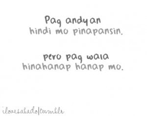 Here's collection of pinoy emo quotes and tagalog emotional quotes ...