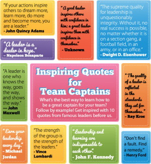 ... quote is your favorite? What are your other favorite leadership quotes