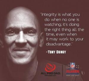 Integrity - Tony Dungy #ItsaBucsLife