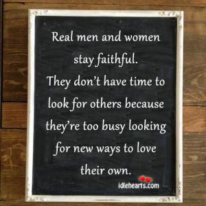 Faithful, Life, Look, Love, Men, Real, Time, Woman, Women