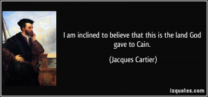 jacques cartier quote