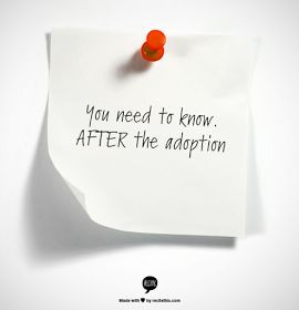 Attempting Agape: Now that the adoption is finalized...