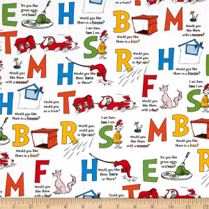 Green Eggs & Ham Alphabet Celebration White