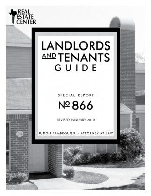 Texas Landlords and Tenants Guide – Revised Jan 2010