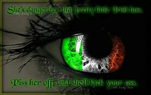 Irish women, love the color of the eye.
