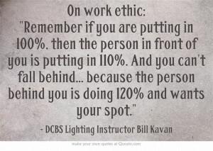 Work Ethic Quote #FullSailDCBS #filmmaking #cinematography #Quote
