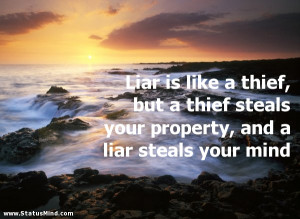 people I don 39 t like liars and thieves