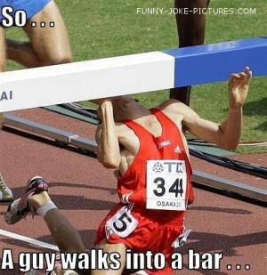 Funny Athlete Runner Joke - An athlete walks into a bar