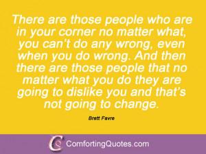 Brett Favre Quotations