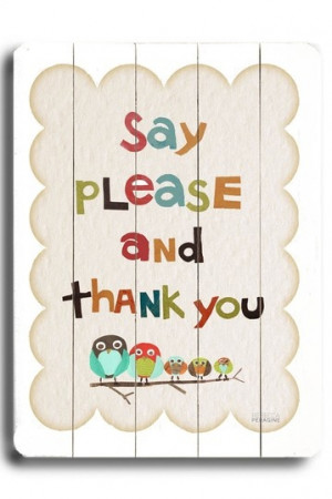 ArteHouse Please and Thank You Distressed Wood Wall Plaque