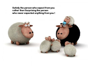 the person who expect from you rather than Surprising the person ...