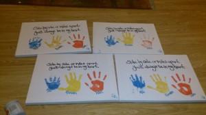 ... quote travel handprint gift grandparents my 3 children :) rainbow
