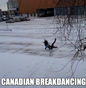Funny Pictures - Canadian Breakdancing