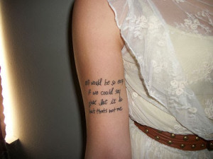 Short music quotes for tattoos