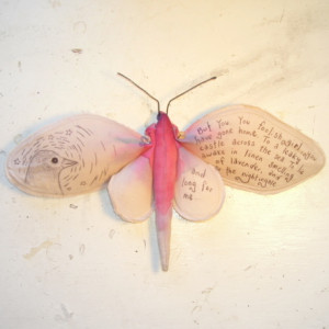 So I thought I would illustrate it onto a moth....