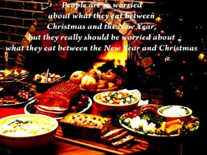 Food new year quote christmas dinner eat:High Contrast