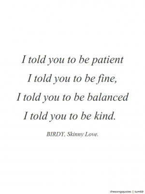 Birdy, Skinny Love.LISTEN TO AUDIO.Official Website: http ...