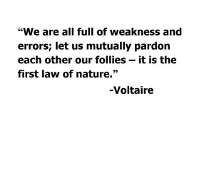 Voltaire quote on understanding and compassion