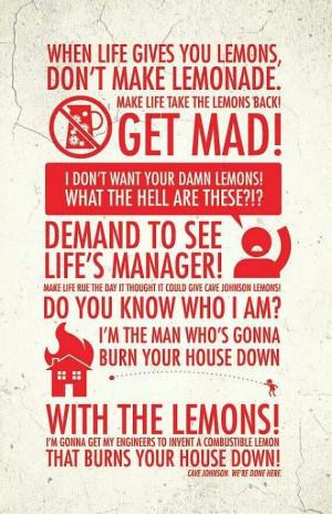 When life gives you flaming-lemons