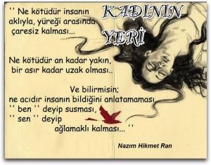 """Şiir- """"Kadının Yeri"""" / NAZIM HİKMET"""