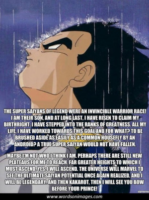 Dragon ball z love quotes