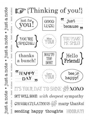 ... Press Inc. - Card Collection - Stickers - Sentiments - Thinking Of You