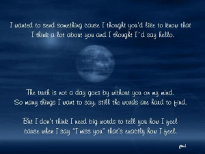 ... Think A Lot About You And I Thought I'd Say Hello - Angel Quote