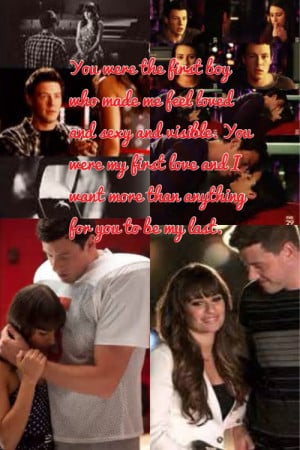My favorite quote from Glee, when Rachel and Finn broke up in season 4 ...