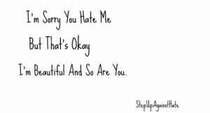 Don't Care If You Hate Me. You're Still Beautiful