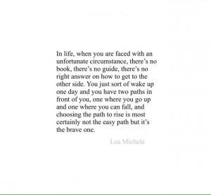 Lea Michele quote