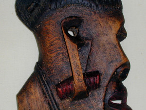 African Elephant Wood Carving