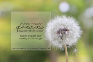 When realized dreams become nightmares | Natural Fertility and ...