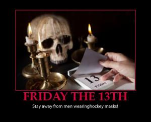 Friday the 13th-hockey masks-humor
