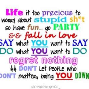 Don't let ANYONE bring you down