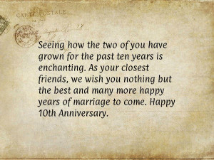 10th Wedding Anniversary Quotes http://anniversaryquotes.net/quote ...