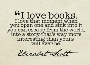 books, elizabeth scott, reality
