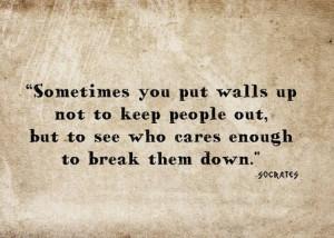 Sometimes People Put Walls