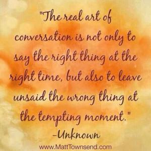 Real art of conversation
